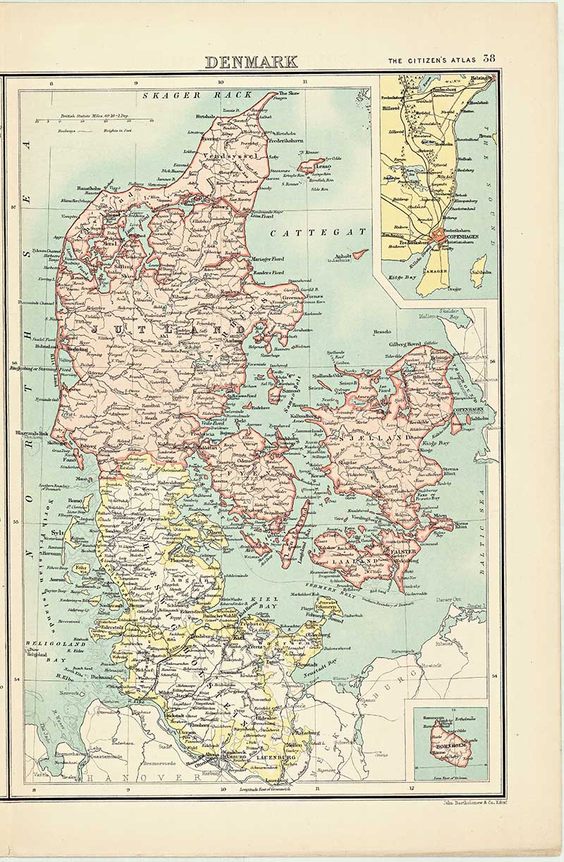 old map of Denmark