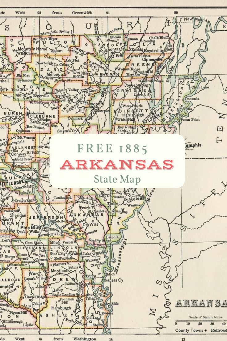 FREE download old map Arkansas