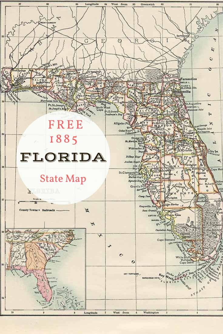 FREE download old map Florida