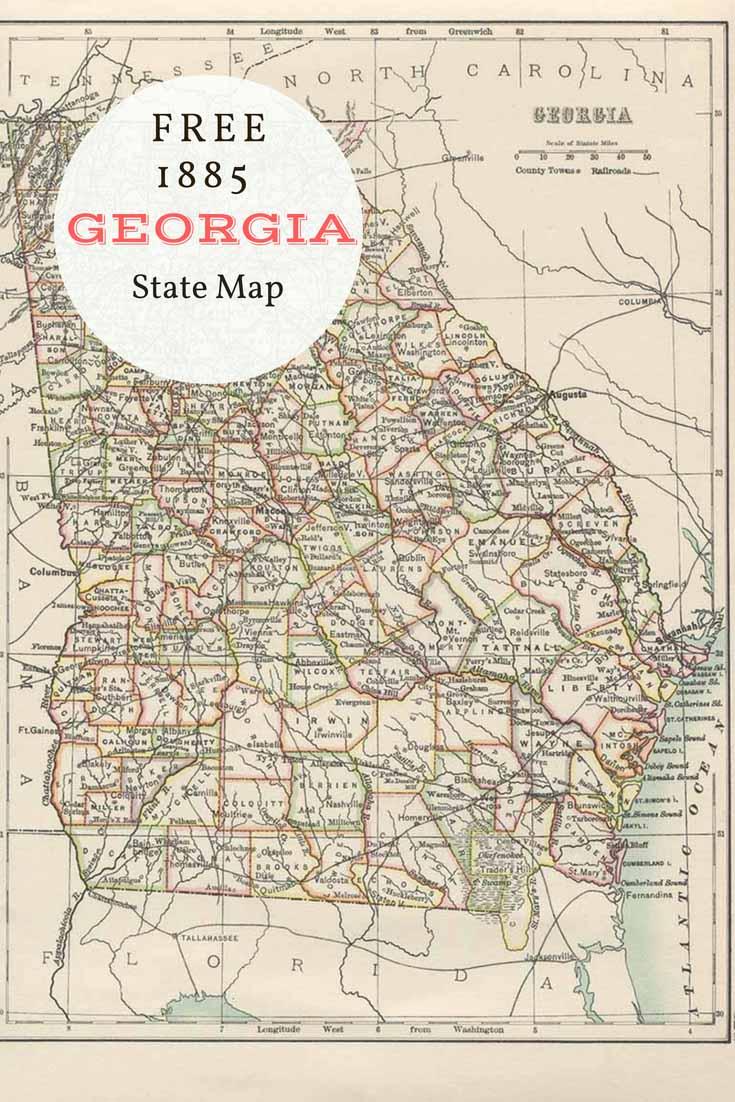FREE download old map Georgia