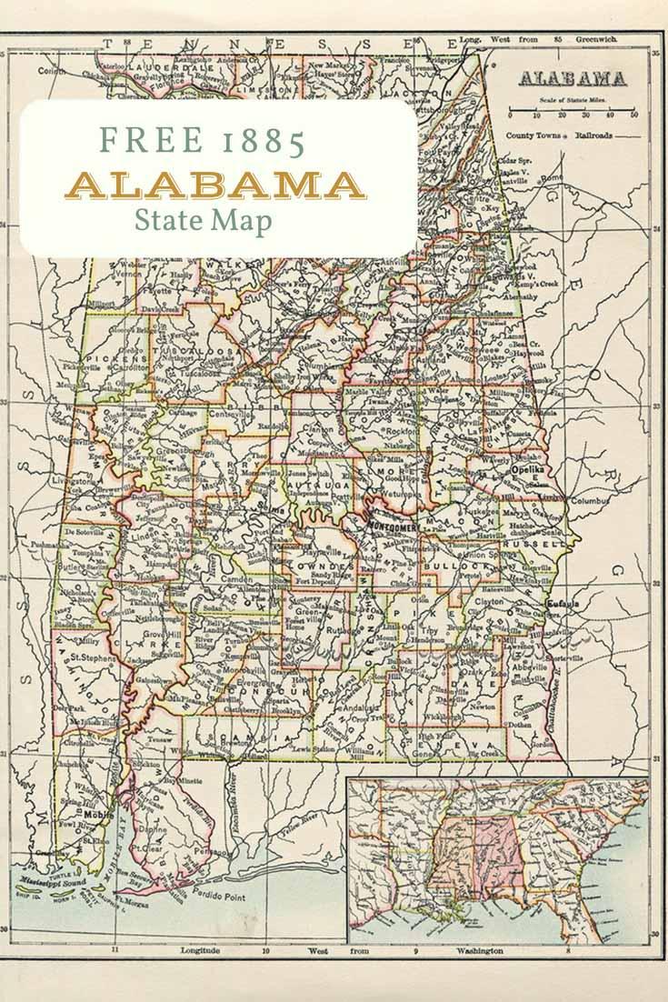 Free Old Map Alabama