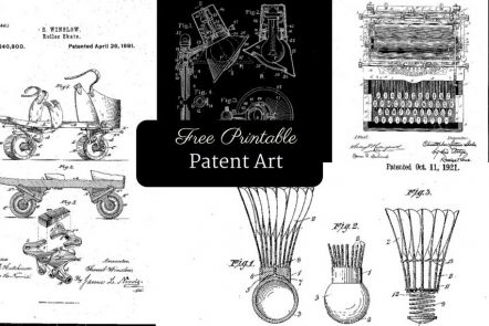 Free Printable patent art for your home