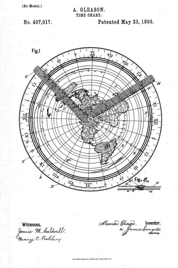 Time chart patent art 1893