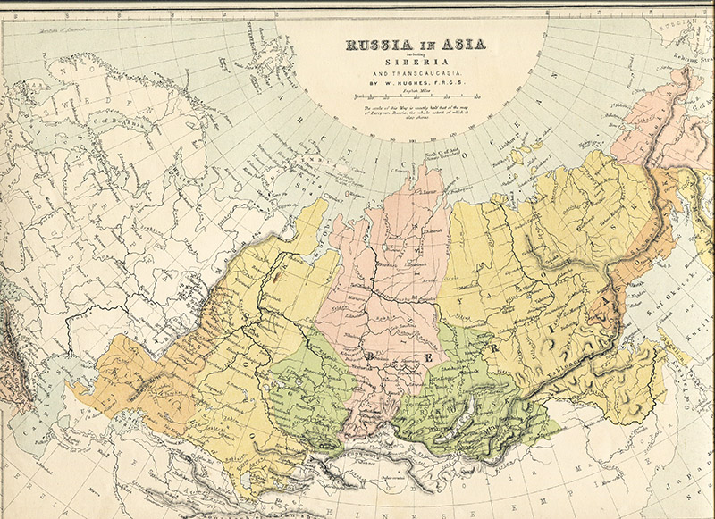 Vintage map of Russia in Europe