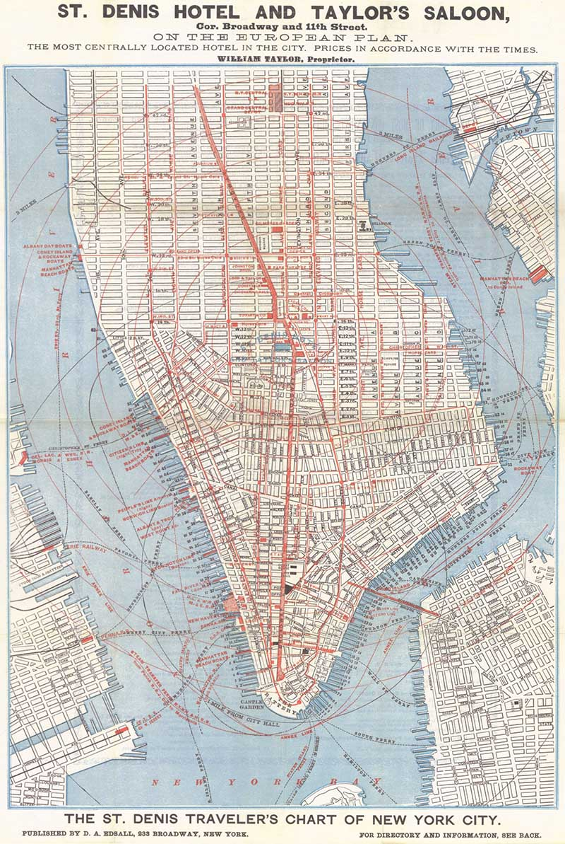 Wonderful Free Vintage New York Maps To Download Picture Box Blue