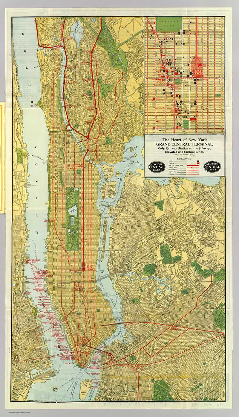 Vintage New York Maps - Pictureboxblue
