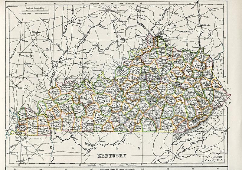 Antique Map of Kentucky