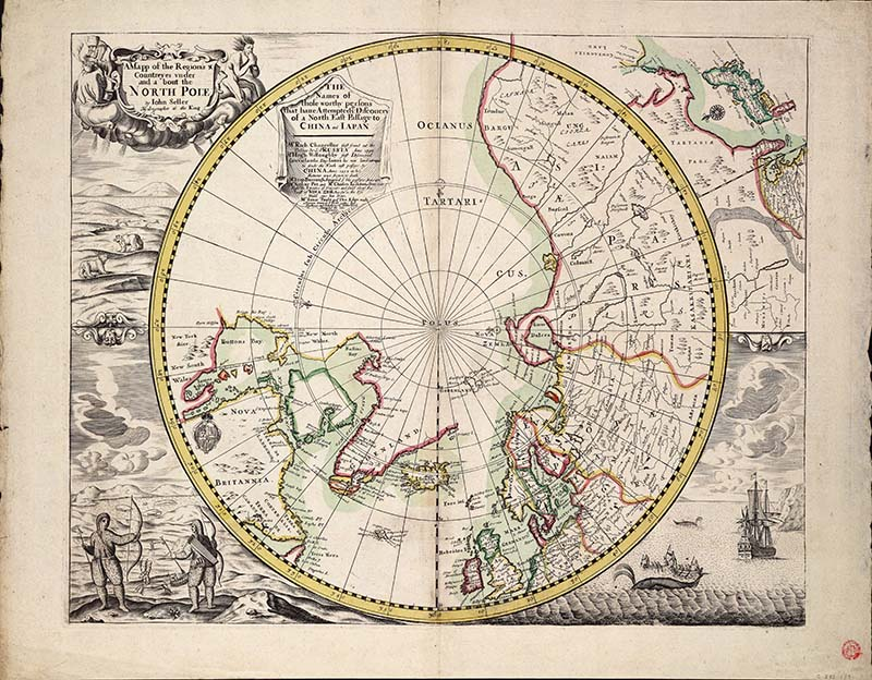1680 _North_Pole_Map by_John_Seller_hydrographer_to_the_King