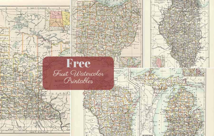 Free Antique Us State Maps To Download Mainly Midwest Picture - Free-us-maps-by-mail