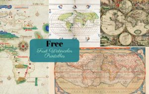 Free Printable antique world maps