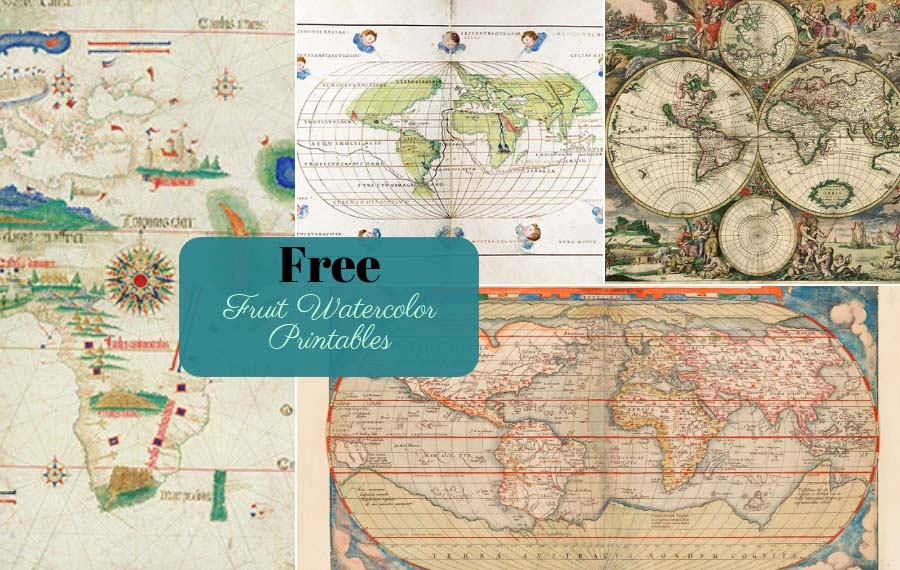 image about Free Printable World Maps known as 9 Good Totally free Antique Entire world Maps Towards Obtain - Imagine