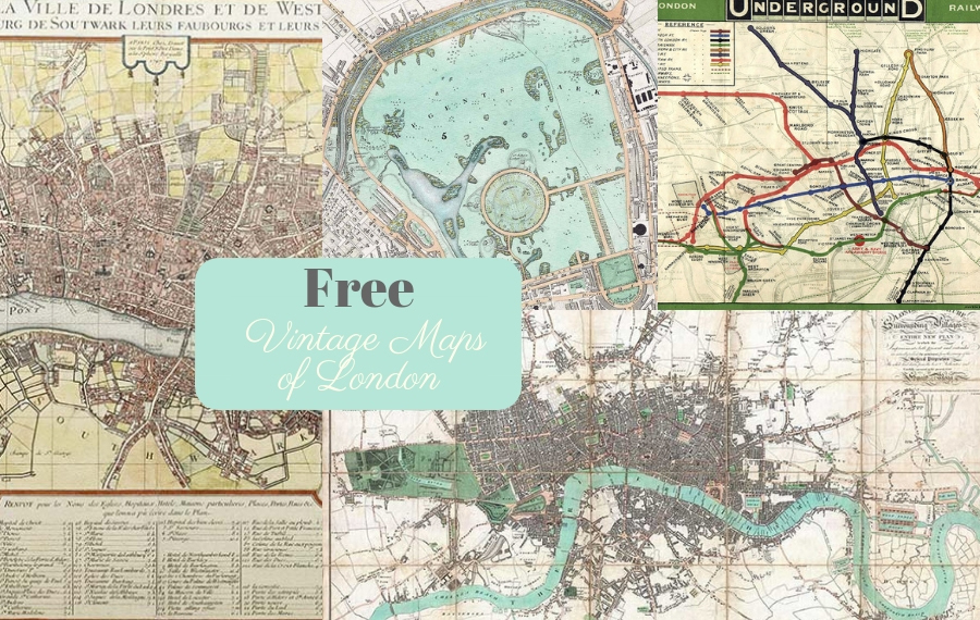 image regarding Printable Vintage Maps referred to as Magnificent Free of charge Classic London Maps In the direction of Down load - Visualize Box Blue