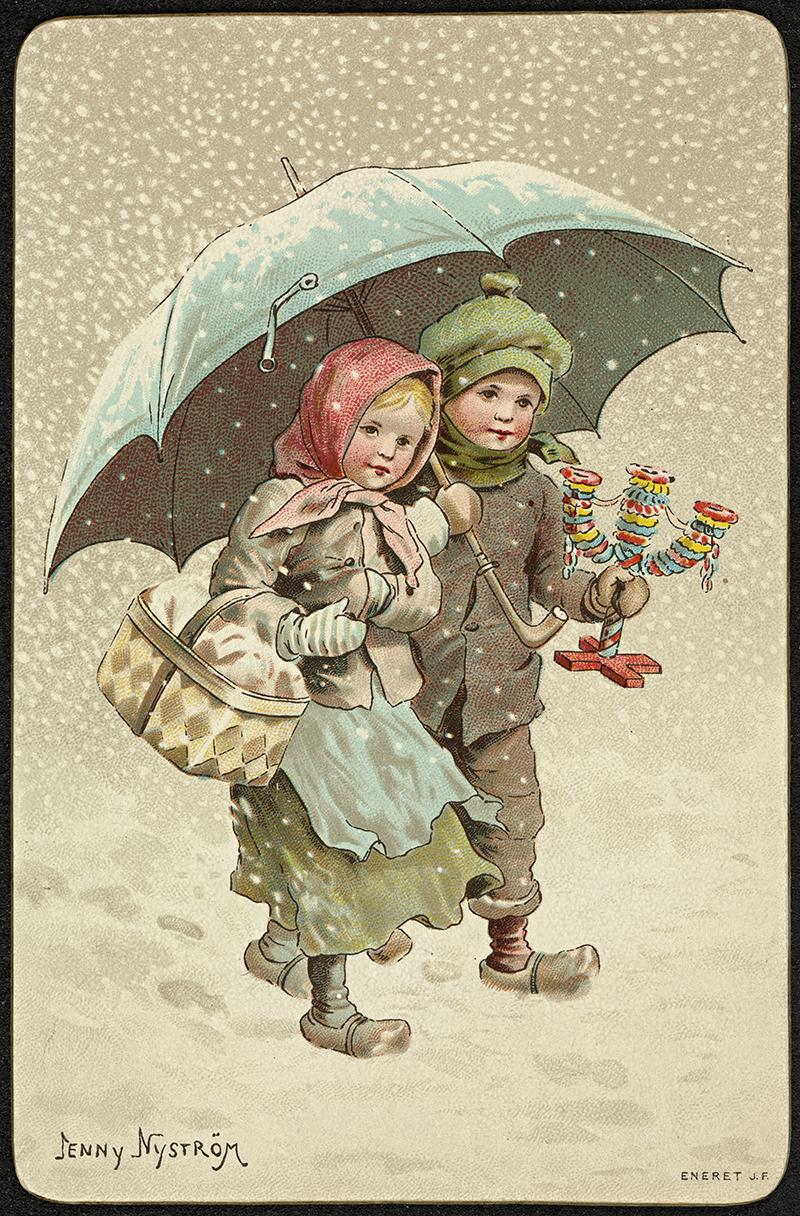 Scandinavian antique Christmas Card