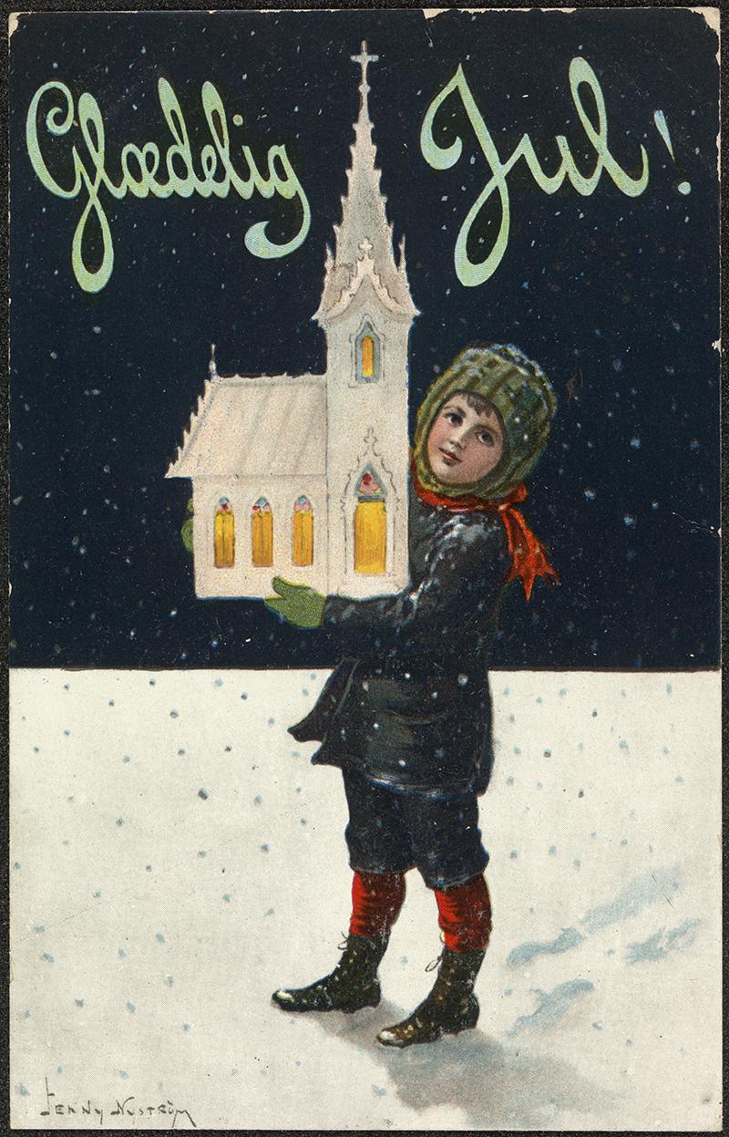 Danish Vintage Christmas card 1910