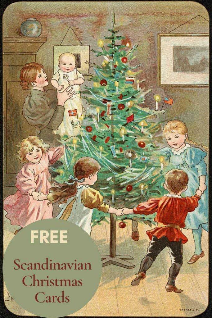 Free_vintage_scandinavian_Christmas_cards_tree