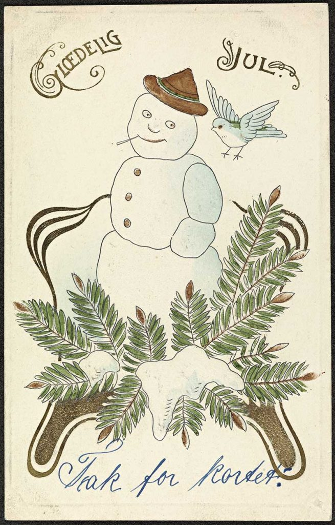 Glædelig_Jul,Snow man1908