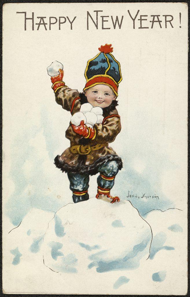 Antique Scandinavian Christmas Card