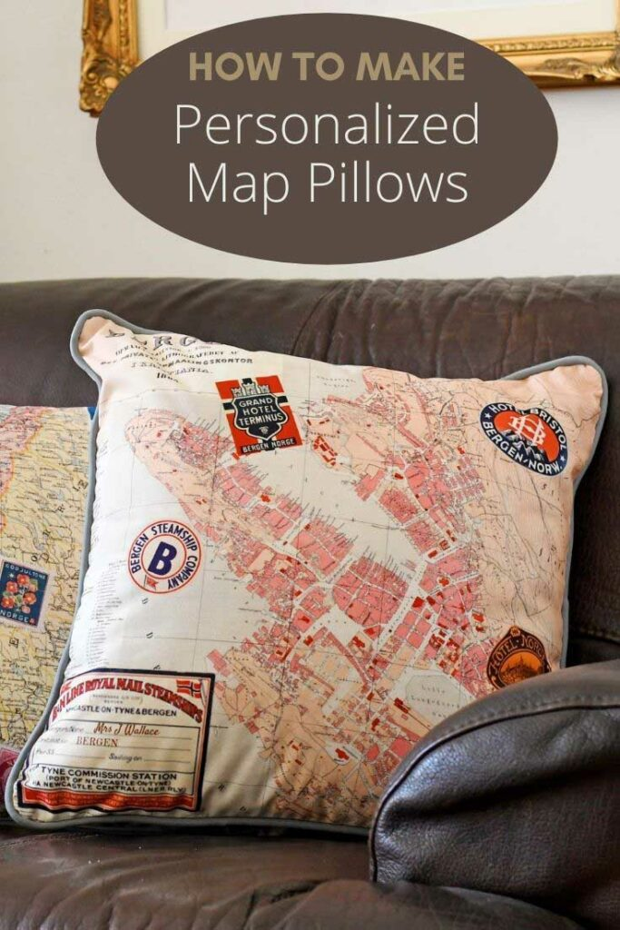 how to make personalized map pillows