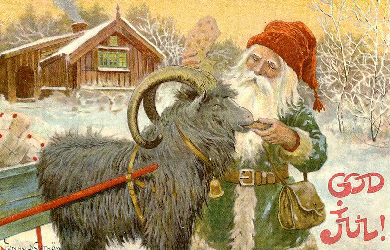 Jenny Nystrom antique scandinavian Christmas card