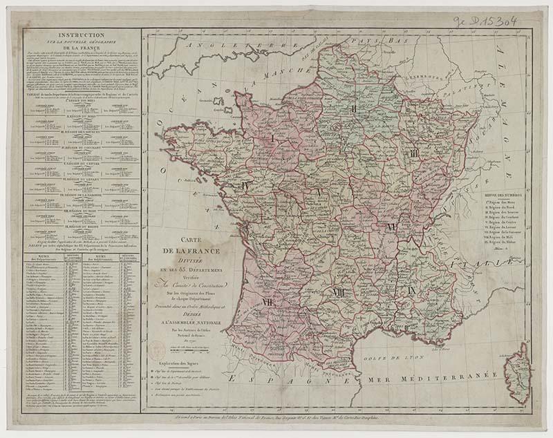 Free downloadable vintage maps of France