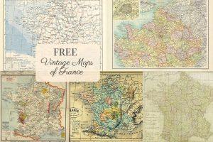 FREE vintage maps of France