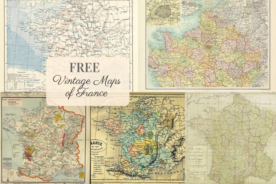 Map Of France France.Free Gorgeous Vintage Maps Of France Picture Box Blue