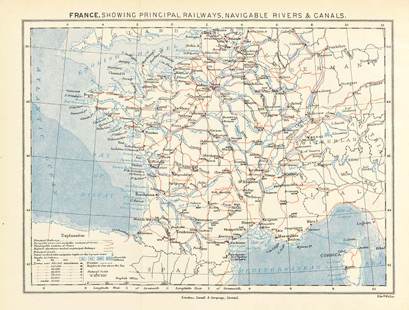 Great vintage maps of France free to download