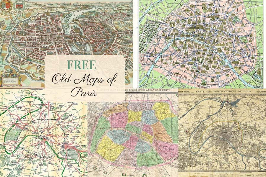 Free to download old maps of Paris
