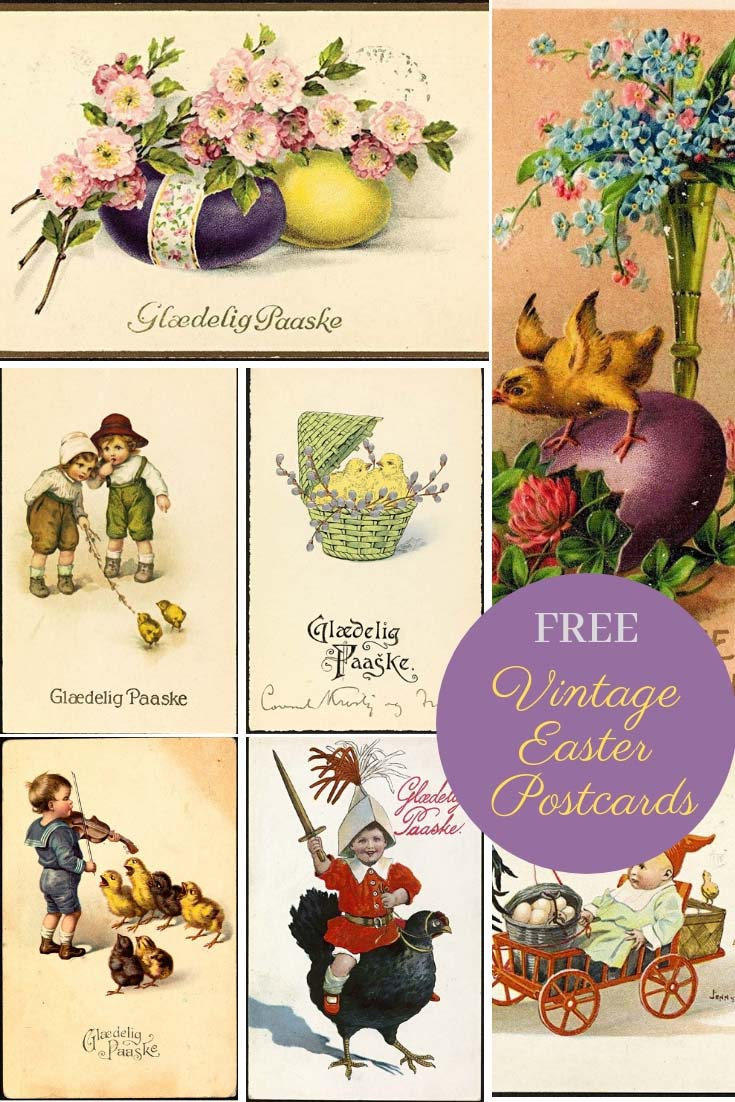 Collection of vintage Easter postcards