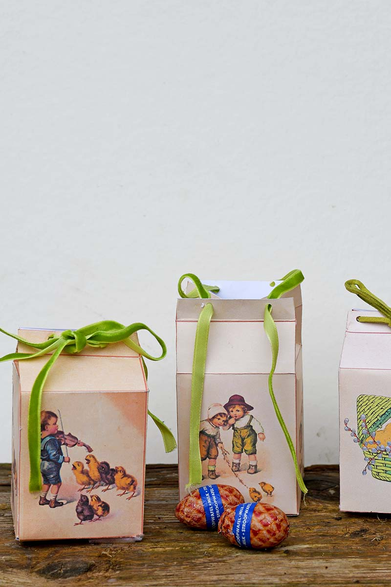 Easter favour boxes