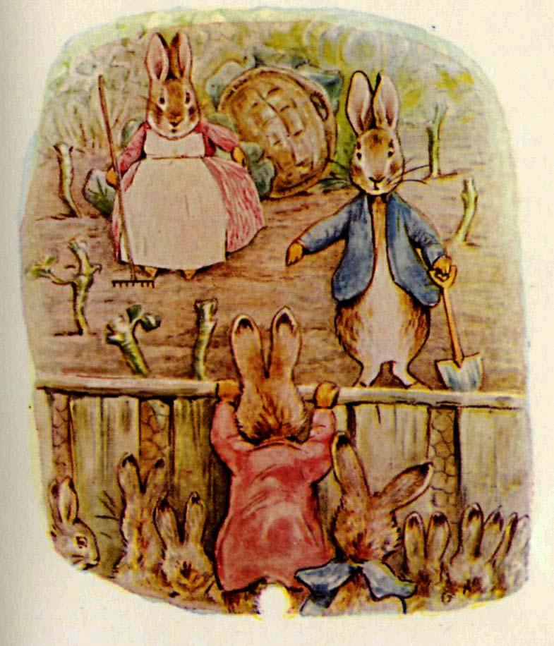 Peter Rabbit, Benjamin Bunny and Flopsy