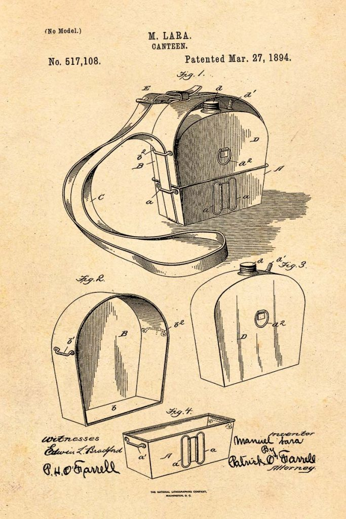 Canteen Patent 1894
