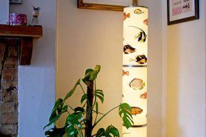 IKEA Floor lamp hack with fish