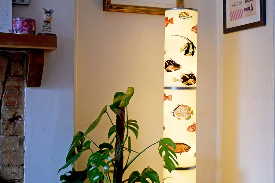 IKEA Floor lamp hack with fish
