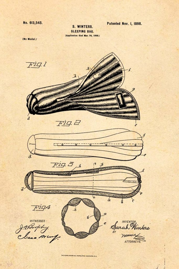Sleeping bag patent