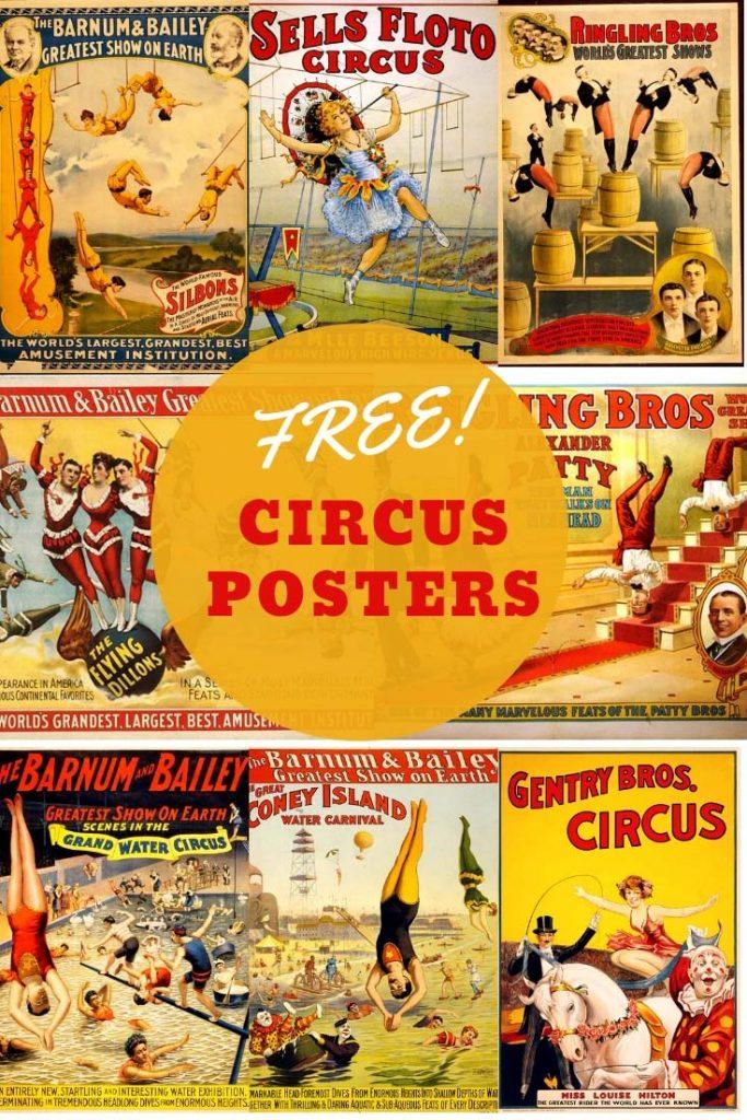 Free printable vintage circus posters