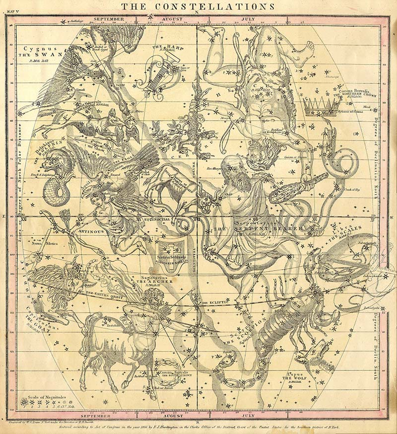 Map of Constellations July August September