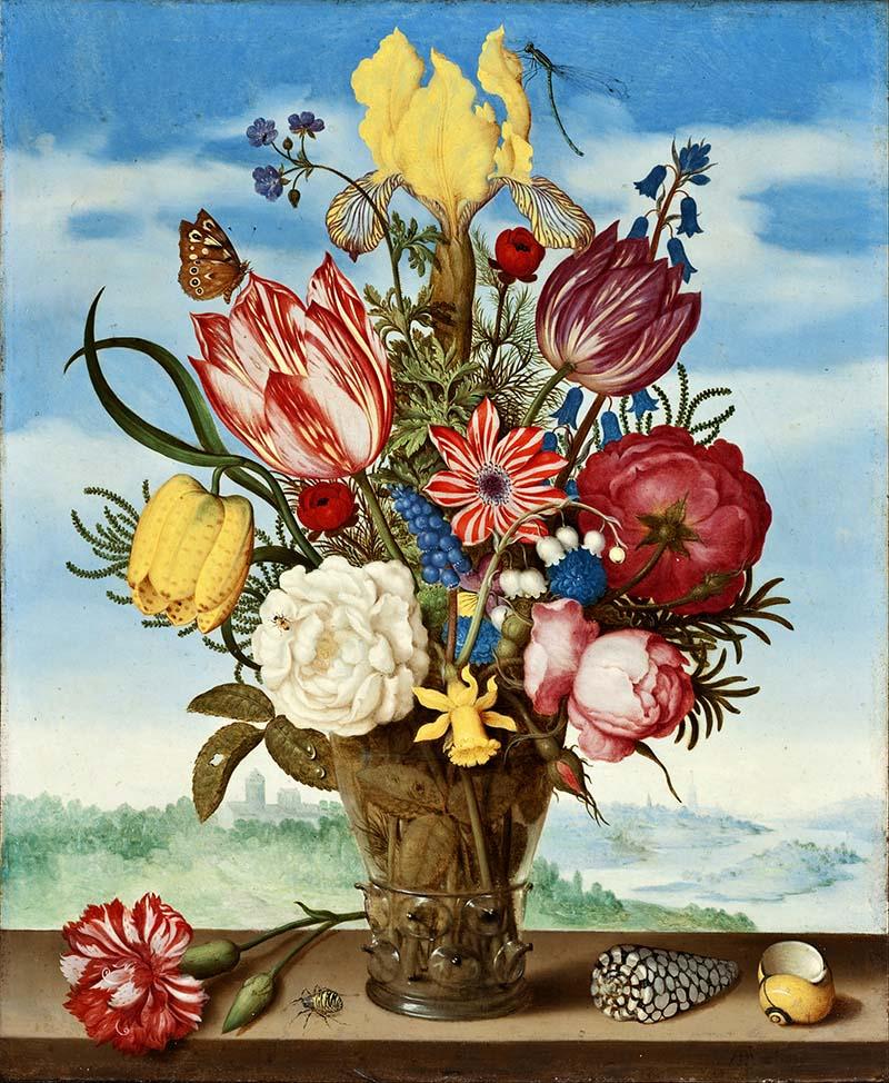 Ambrosius_Bosschaert flower decoupage