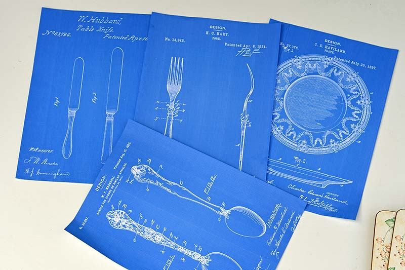 Blueprints for upcycled placemats