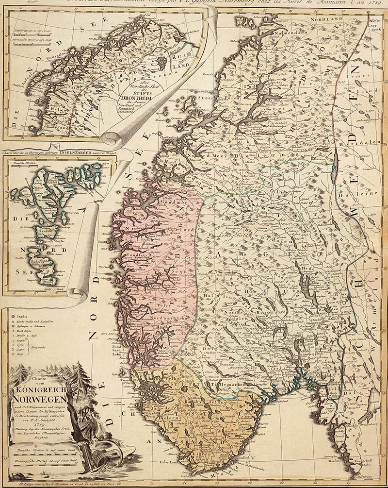 1789 Map of Norway