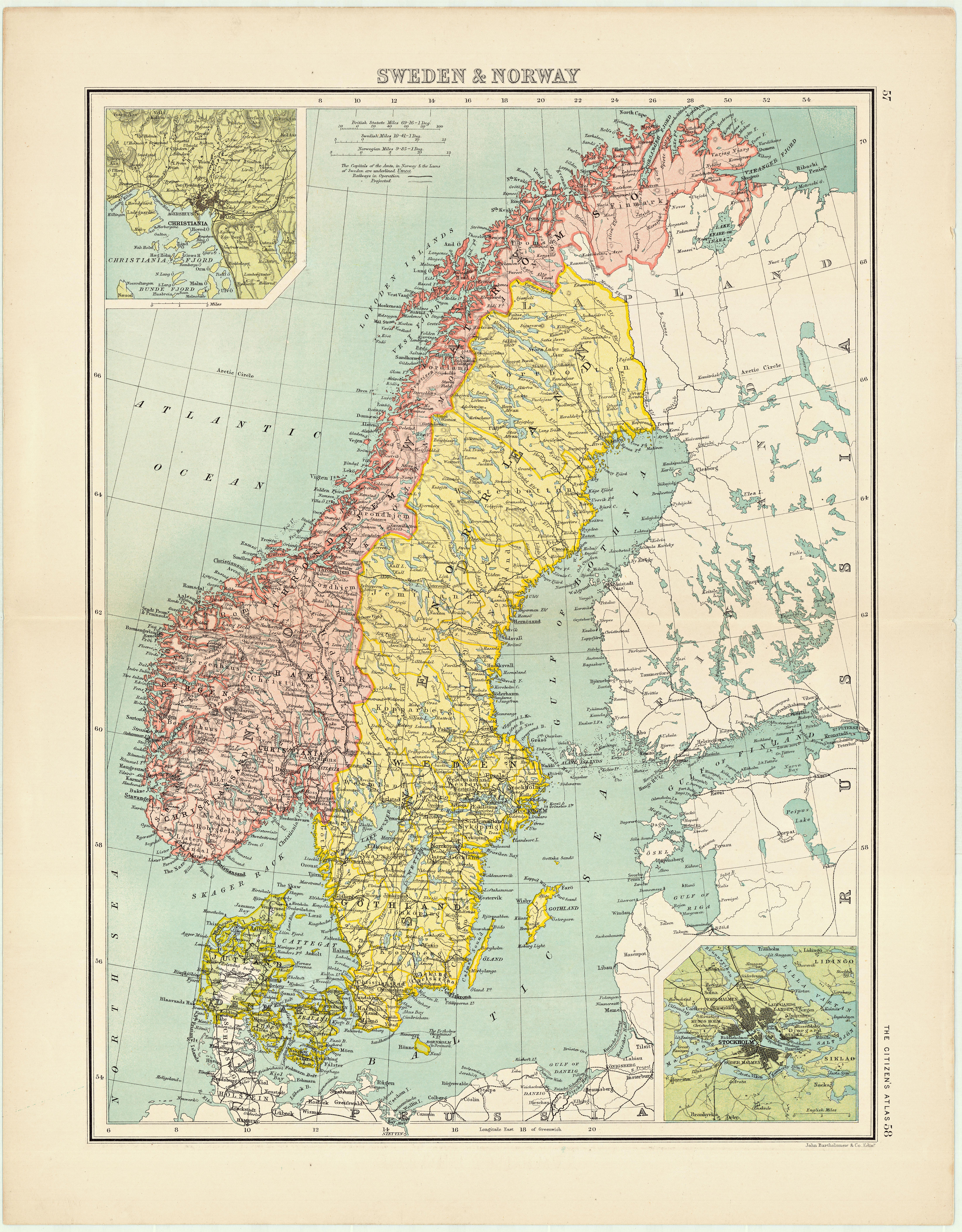 Free Old Maps Of Norway To Download Picture Box Blue