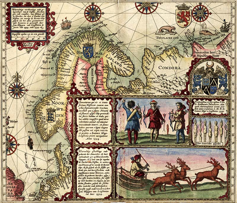 1601 Old Map of Norway