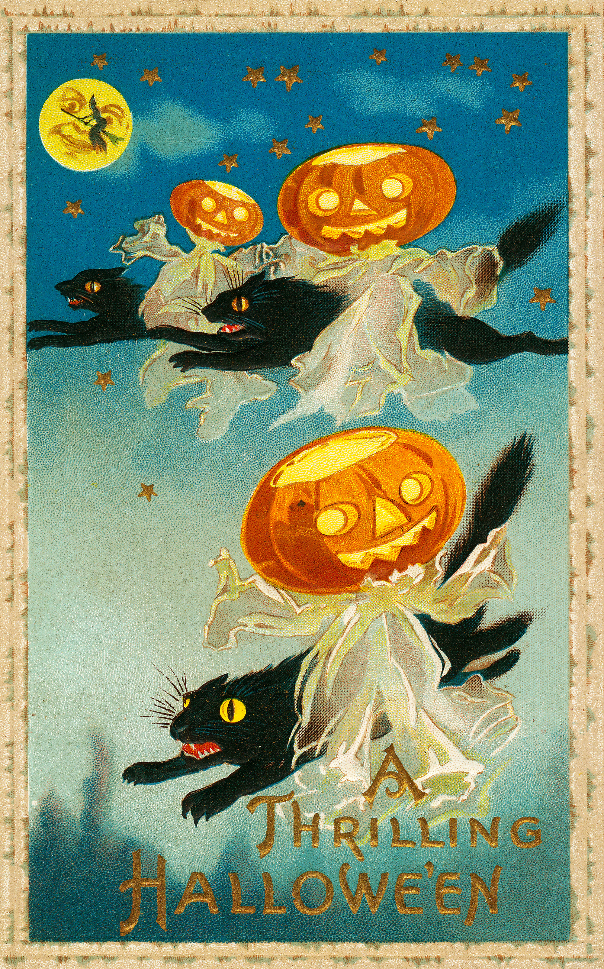 Charming Free Vintage Halloween Postcards To Download