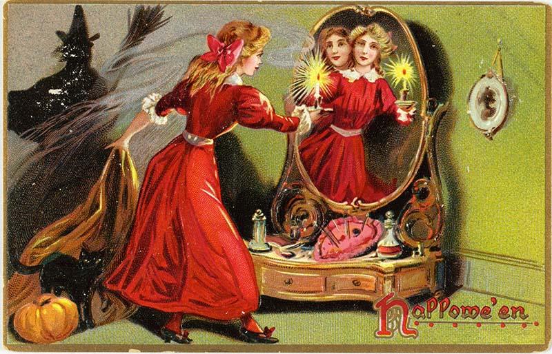 1880 vintage halloween postcard
