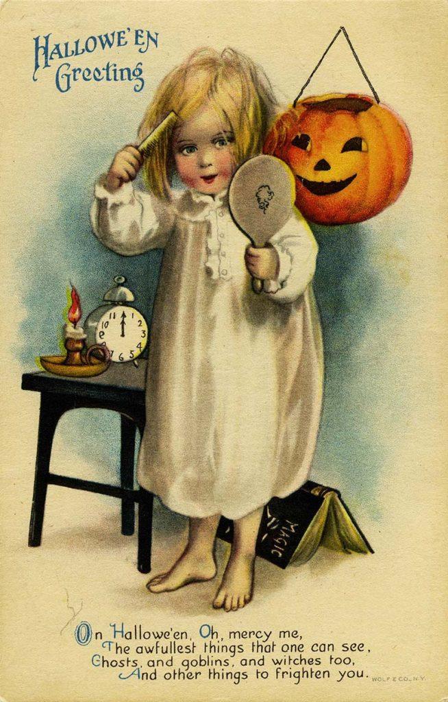 Vintage Halloween card and poem