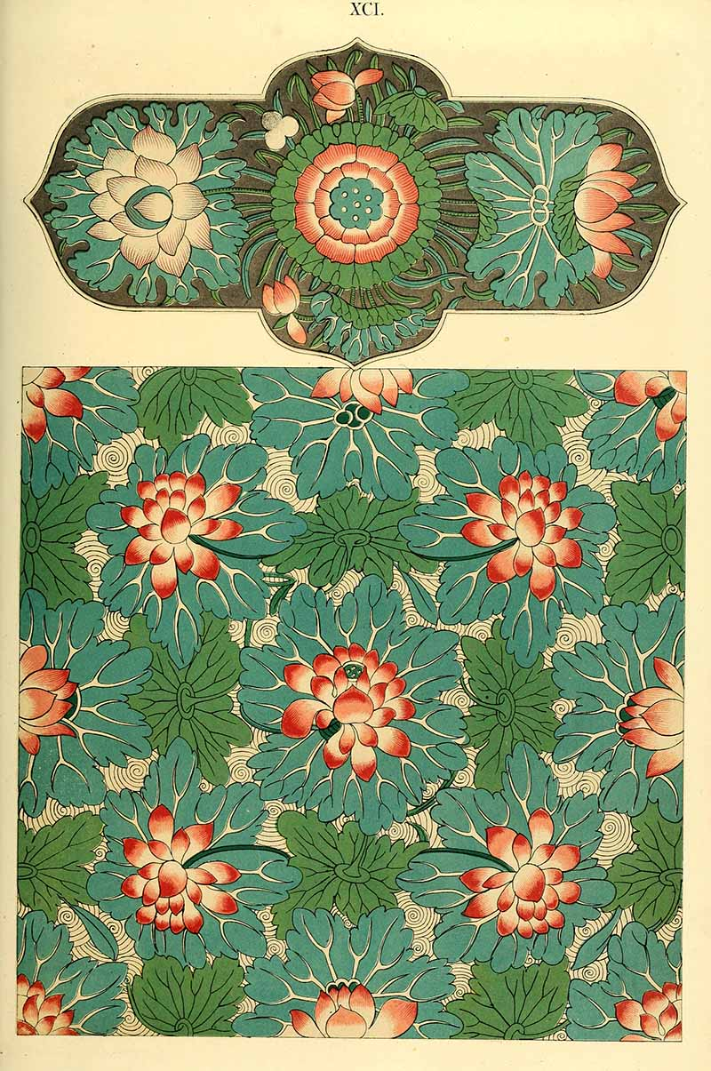 Traditional Chinese patterns from a small tray