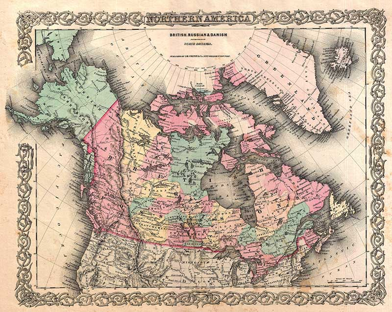 1855 Canadian Map
