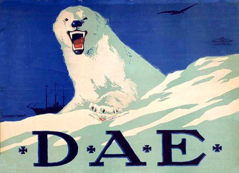 Graphic polar bear print