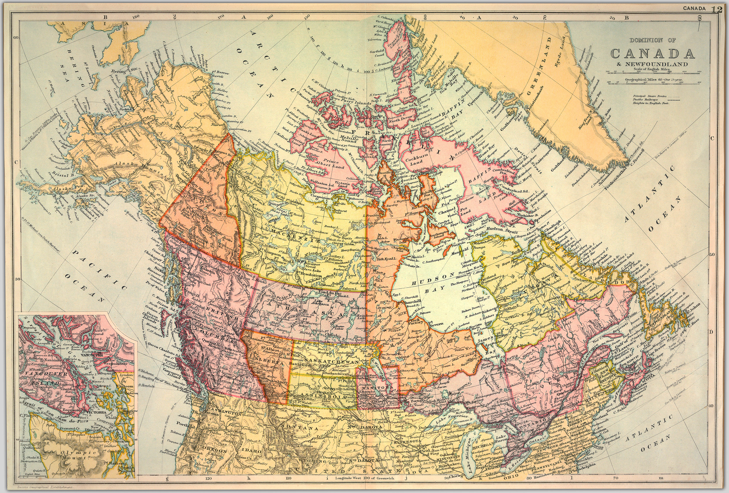 Vintage Map Of Canada Wonderful Free Old Maps Of Canada To Print   Picture Box Blue