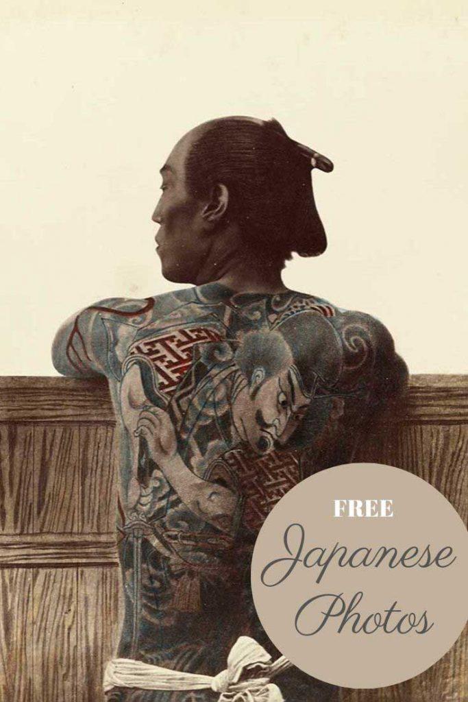 Kusakabe Kimbei tattoo man